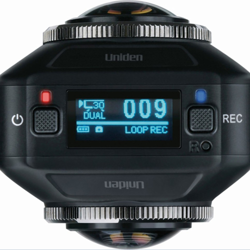 Uniden DC720 HD Dual Lens 720 Degree Video Driving Recorder Dash Cam Camera