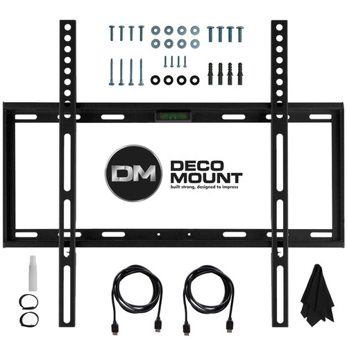 Flat Wall Mount Kit Ultimate Bundle for 45-90 inch TVs