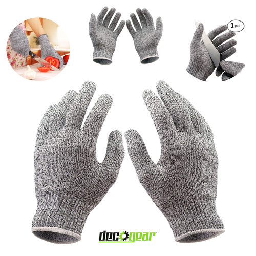Food Grade Kitchen Safety Cut Resistant Stretch Fit Gloves