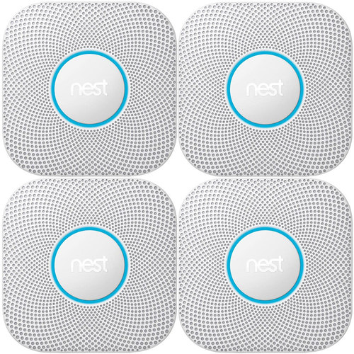 Google Nest Protect 2nd Generation Smoke/Carbon Monoxide Alarm-Battery(S3000BWES)4-Pack