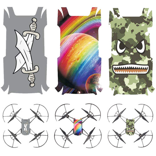 Deco Gear DJI Tello Body Skin Decals - pack of 3