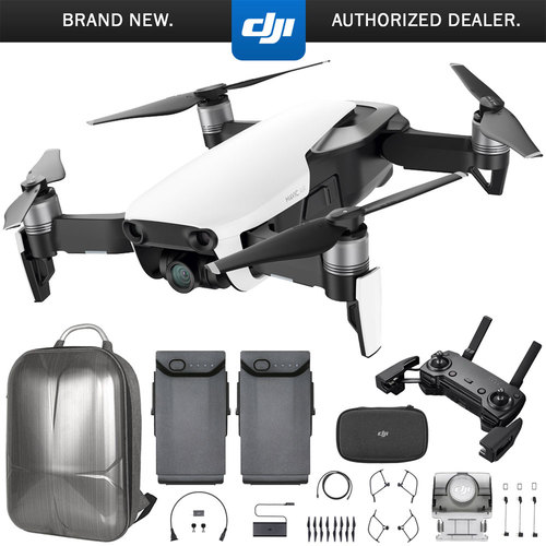 DJI Mavic Air Quadcopter with Remote Controller - Arctic White Max Flight Bundle