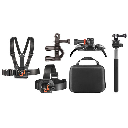 Deco Gear Outdoor Action Kit with Clip Head Mount for Action Camera