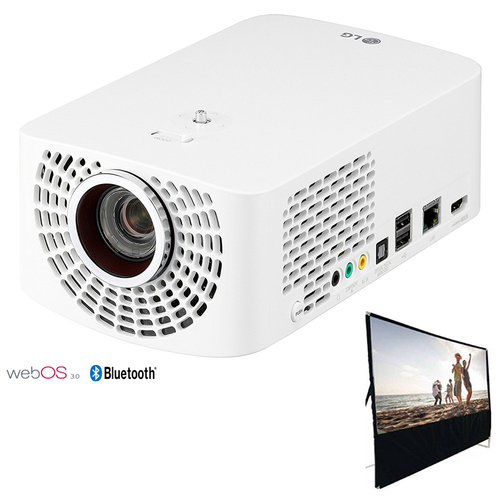LG PF1500W LED Smart Home Theater Projector w/ 100` Portable Projector Screen