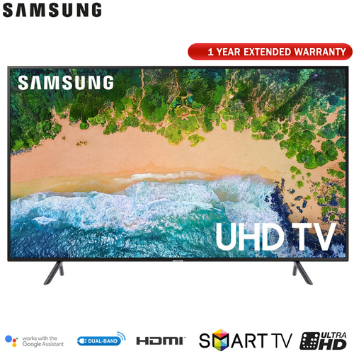 Samsung UN43NU7100 43` NU7100 Smart 4K UHD TV (2018) w/ Extended Warranty