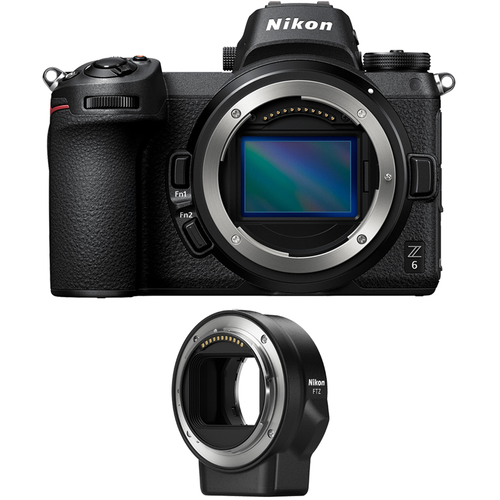 Nikon Z6 24.5MP FX-format Full-Frame Mirrorless Camera (Body) with FTZ Mount Adapter