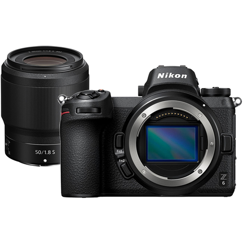 Nikon Z6 24.5MP FX-format 4K Mirrorless Camera with NIKKOR Z 50mm f/1.8 S Lens