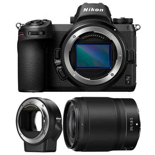 Nikon Z7 45.7MP FX-Format 4K Mirrorless Camera w/ 35mm Lens + FTZ Mount Adapter