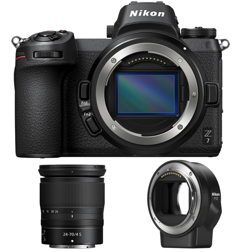 Nikon Z7 FX-Format 4K Mirrorless Camera with NIKKOR Z 24-70mm f/4 + FTZ Adapter