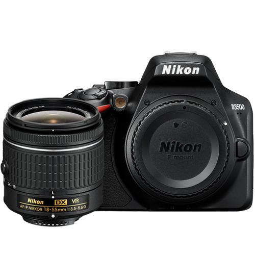 D3500 24.2MP DSLR Camera with AF-P DX NIKKOR 18-55mm f/3.5-5.6G VR Lens