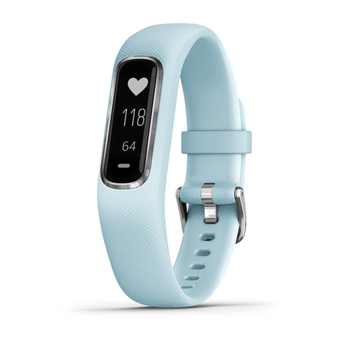 Garmin vivosmart 4 Activity & Fitness Tracker - Azure Blue with Silver Hardware (S/M)