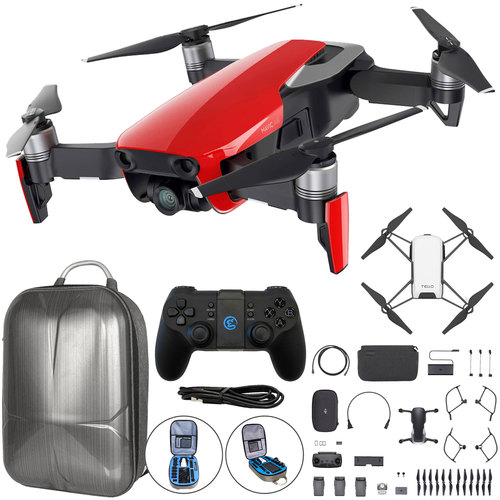 DJI Mavic Air Quadcopter Drone Fly More Combo w/Backpack + Bonus DJI Tello (Red)