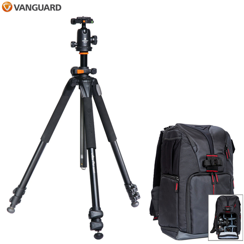 Vanguard Alta Pro 263AT Tripod with SBH 100 Head + Photo Camera Sling Backpack