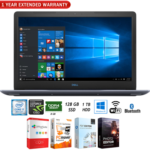 Dell 17.3` i7-8750H 8GB/1TB HDD Gaming Notebook Laptop + Extended Warranty Pack