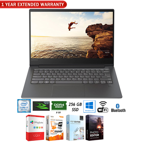 Lenovo IdeaPad 530s 14` Core i7 8550U 8/256GB SSD Laptop +Extended Warranty Pack