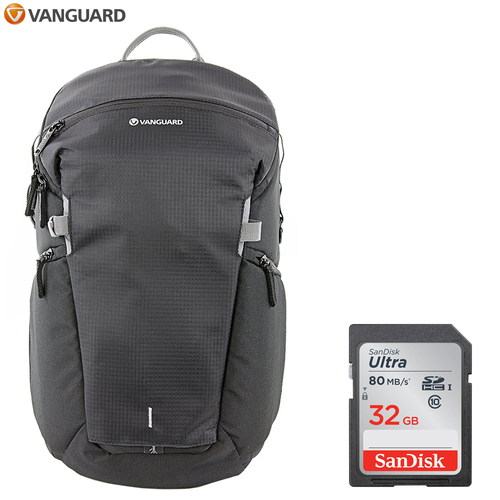 Vanguard Sling Camera & Photography Backpack - VEO DISCOVER 46 + 32GB Memory Card
