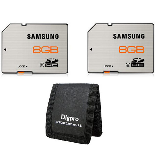 Samsung High Speed 8GB Waterproof & Shockproof Class 6 SDHC Memory Card (2-Pack)