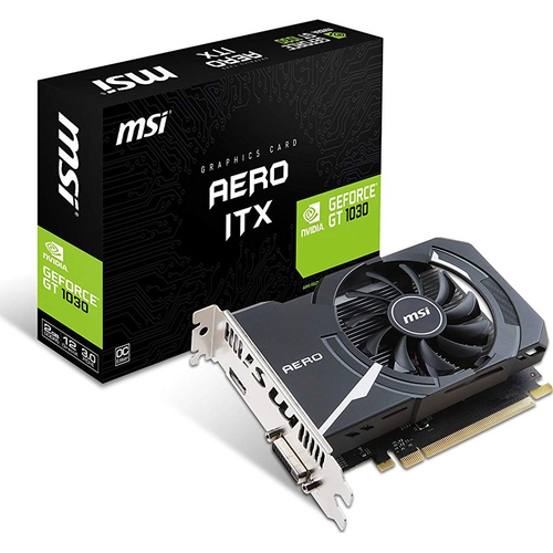 MSI - NVIDIA GeForce GT 1030 AERO ITX 2G OC Graphics Card - GT 1030 AE ITX 2G OC