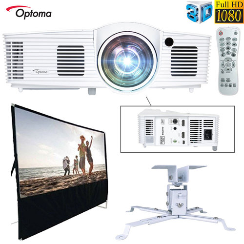 Optoma 3D 2800 Lumen DLP Gaming Projector - Refurbished All In One Home Theater Bundle