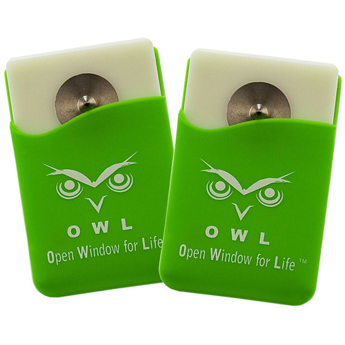 Owl Automotive Window Breaker/Punch with Seat-belt Cutter OS1P1 - Green (2-Pack)
