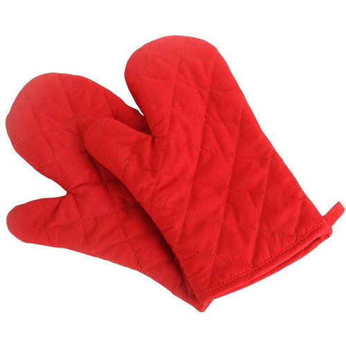 Deco Chef Pair of Red Heat Resistant Oven Mitt - RDMITT