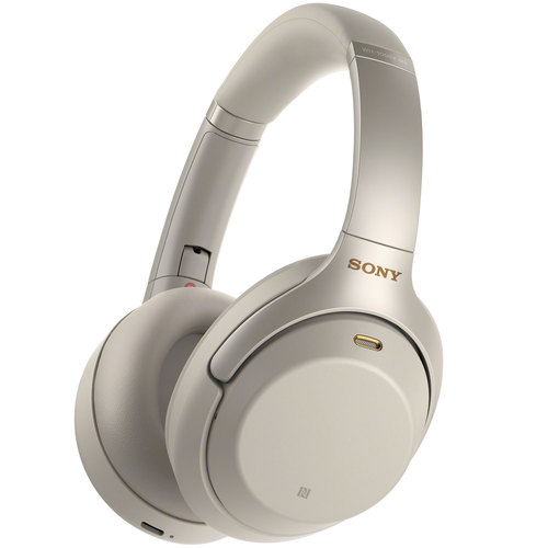 Sony WH1000XM3/S Premium Noise Cancelling Wireless Headphones with Microphone, Silver