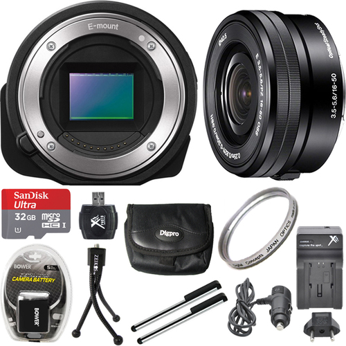 Sony ILCE-QX1/B Interchangeable Lens Style Camera with 16-50mm Lens 32GB Bundle