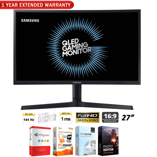 Samsung FG73 Series 27` Curved Gaming Monitor + 1 Year Extended Warranty Pack