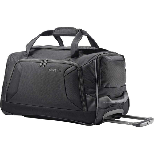 American Tourister 22` Zoom Wheeled Duffel, Black