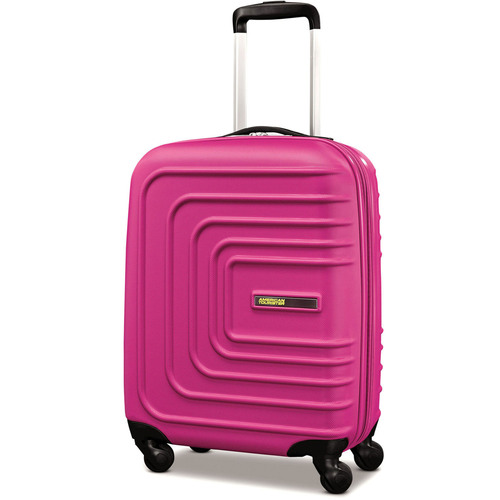 American Tourister 20` Sunset Cruise Hardside Spinner Luggage, Pink Berry - Open Box