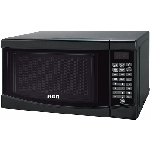 RCA RMW733-BLACK Microwave Oven, 0.7 cu. ft., Black - Open Box