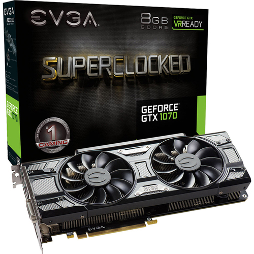 EVGA GeForce GTX 1070 8GB GDDR5 Gaming Graphics Card - 08G-P4-5173-KR - Open Box