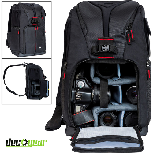 Beach Camera Photo Camera Sling Backpack for Cameras & Accessories Fits 15-inch Laptops
