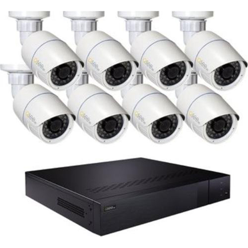 Q-SEE 16 CHANNEL H.265 IP NVR  8 4MP BULLET CAMERAS + 3TB