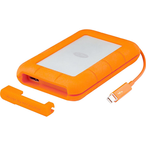 LaCie Rugged Thunderbolt and USB 3.0 SSD 500GB Portable Hard Drive STEZ500400