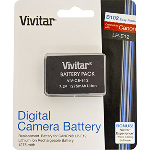Vivitar Replacement Lithium-Ion Battery for LP-E12, EOS M & EOS Rebel SL1 (CB-E12)