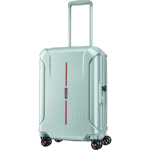 American Tourister 24` Technum Hardside Spinner Luggage, Grey/Red