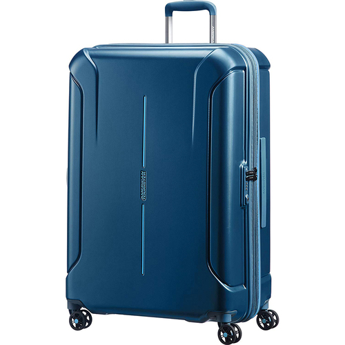 American Tourister 28` Technum Hardside Spinner Luggage, Metallic Blue