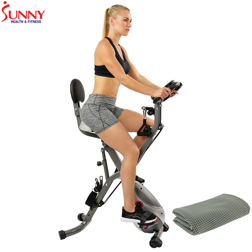 Sunny Health and Fitness Total Body Indoor Exercise Bike w/ Cooling Towel