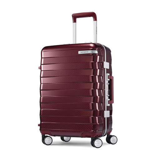 Samsonite Framelock Hardside Zipperless Checked Luggage with Spinner Wheels, 25` Cordovan