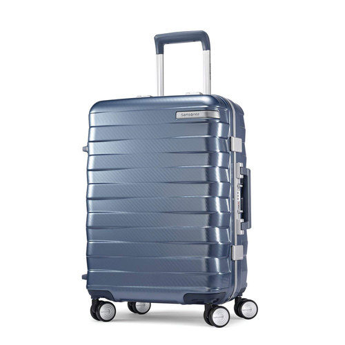 Samsonite Framelock Hardside Zipperless Checked Luggage with Spinner Wheels, 28` Ice Blue