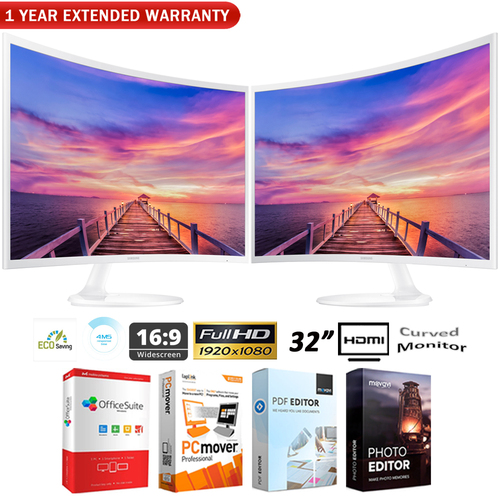 Samsung Dual CF391 32` LED Curved Monitor Ultra Slim+ Extended Warranty Pack