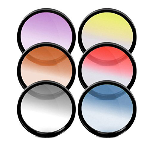58mm Graduated Color Multicoated Six Piece Filter Set with Fold-Up Filter Case