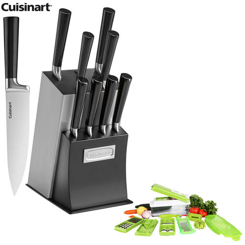 Cuisinart 11-Piece Vetrano Collection Cutlery Knife Block Set w/Chop Wizard