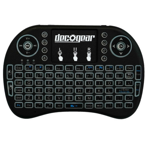 2.4GHz Wireless Backlit Keyboard Smart Remote with Touchpad Mouse - STV300BK