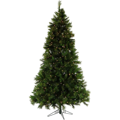 Fraser Hill 10 Ft. Canyon Pine Christmas Tree with Clear LED Lighting - FFCM010-5GR