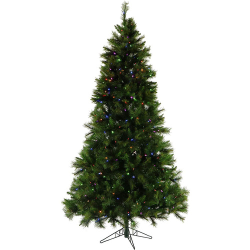 Fraser Hill 10 Ft. Canyon Pine Christmas Tree with Multi-Color LED Lighting - FFCM010-6GR