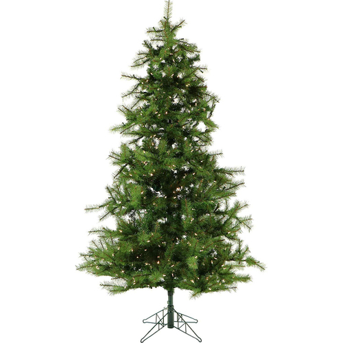 Fraser Hill 9 Ft. Southern Peace Pine Christmas Tree with Clear LED Lighting - FFSP090-5GR