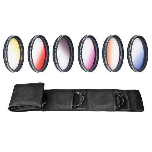 Deco Gear 55mm Graduated Color Multicoated 6 Piece Filter Set with Fold Up Pouch
