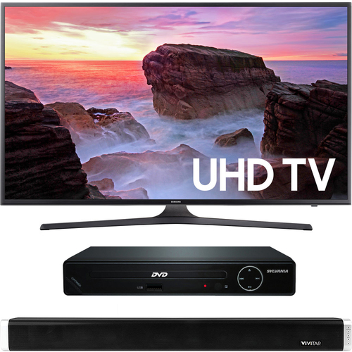 Samsung 50` 4K Ultra HD Smart LED TV 2017 + HDMI DVD Player + Bluetooth Sound Bar